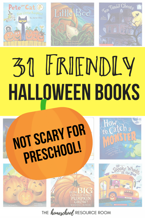 31 Days of Friendly Halloween Books for Preschool: Not-scary books for sensitive little ones perfect for October!