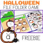 Free file folder game for Halloween, K-2