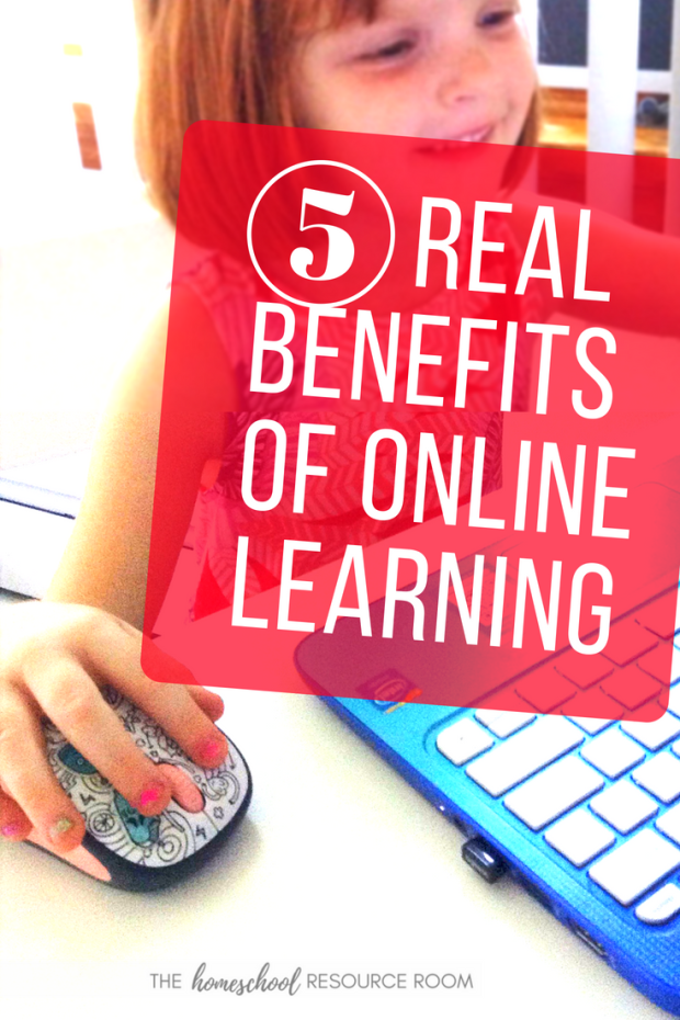 The 5 benefits of online learning for homeschoolers. PLUS an extended FREE trial of our favorite online games for reading and math!