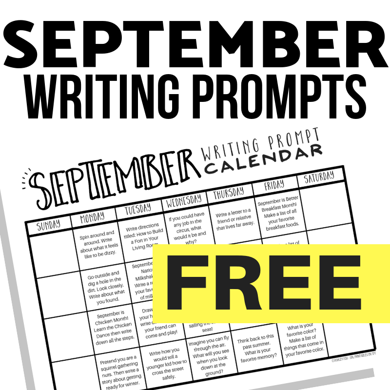 September Writing Prompts