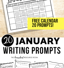 January Writing Prompts: FREE January Writing Prompt Calendar! - The  Homeschool Resource Room [ 1102 x 735 Pixel ]