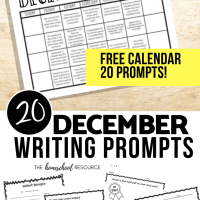 December Writing Prompts: FREE Writing Prompt Calendar