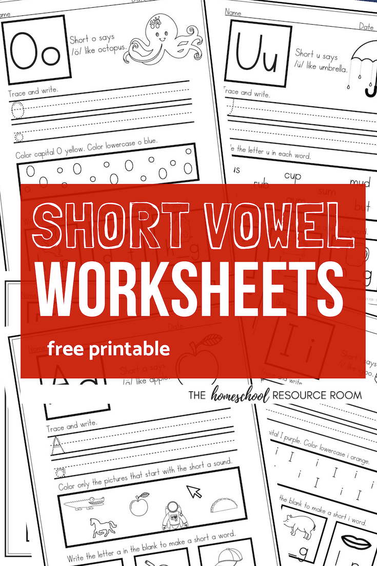 hight resolution of Short Vowel Worksheets - Sample Pack for CVC Phonics Practice! - The  Homeschool Resource Room
