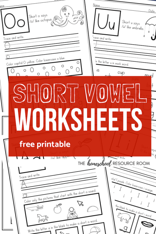 small resolution of Short Vowel Worksheets - Sample Pack for CVC Phonics Practice! - The  Homeschool Resource Room