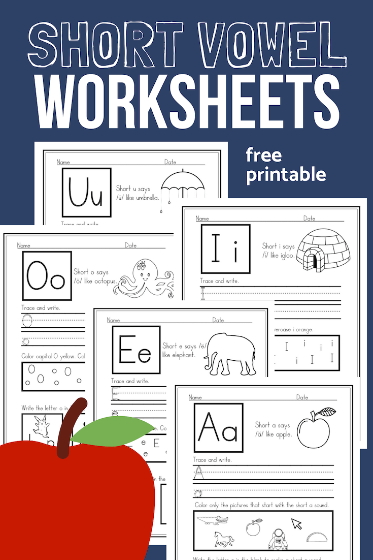 photo relating to Free Printable Short Vowel Worksheets titled Shorter Vowel Worksheets Pattern Pack for CVC Phonics
