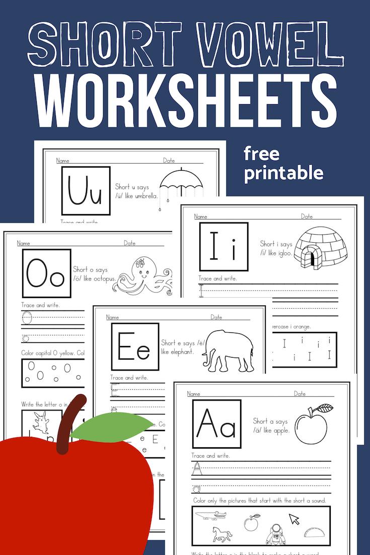 image regarding Printable Short Vowel Worksheets titled Brief Vowel Worksheets Pattern Pack for CVC Phonics
