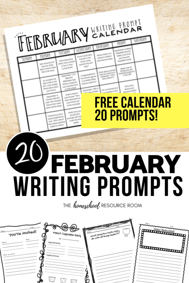 February 2019 Calendar Letter Writing Prompts February Writing Prompts: FREE February Writing Prompt Calendar