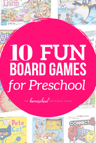 10 FUN Preschool Board Games, practice numbers, letters, fine motor and social skills with these fun board games for preschoolers. #education #preschool #games #fun #learning