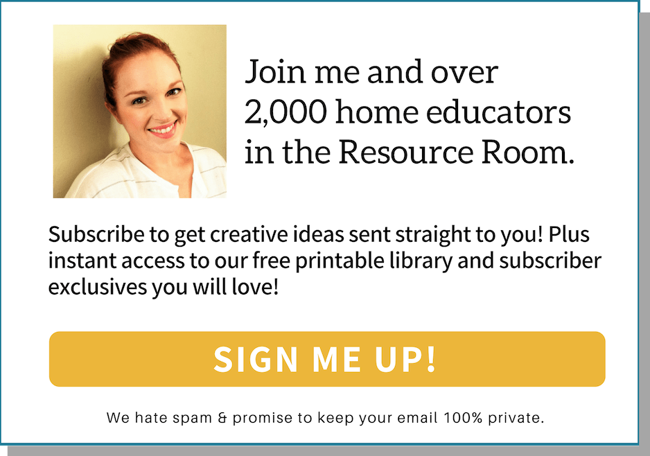 Join me and over 2,000 home educators in the Resource Room!