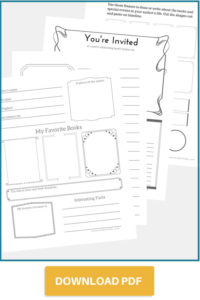 Author Study Pages