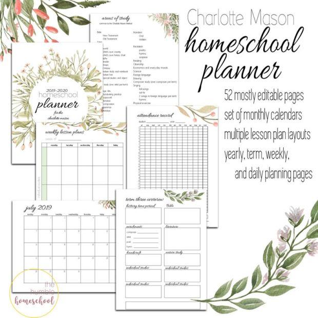 Charlotte Mason Homeschool Planner