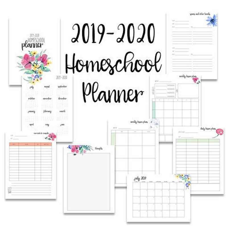 photo about Homeschool Calendar Printable named The Great Printable Homeschool Planners upon Etsy The