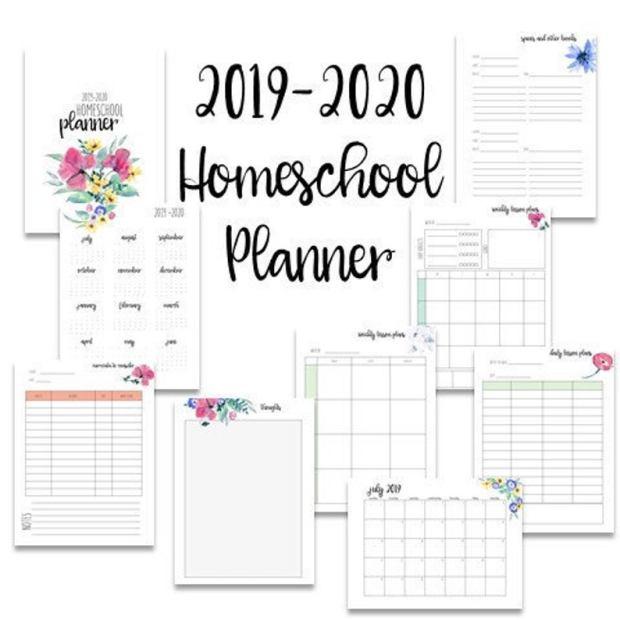 Printable Homeschool planners (9)
