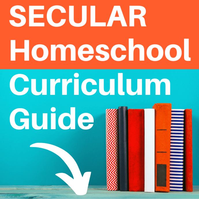 Secular homeschool curriculum guide for parents. Find secular options for online, text, and book base courses in language arts, math, science, history and more! #secularhomeschooling #secularhomeschool #homeschoolcurriculum