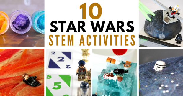 10 out-of-this-world Star Wars STEM Activities! The best hands-on science, technology, engineering, and math activities in cyberspace. #stem #steam #stemeducation #starwars #starwarsforkids