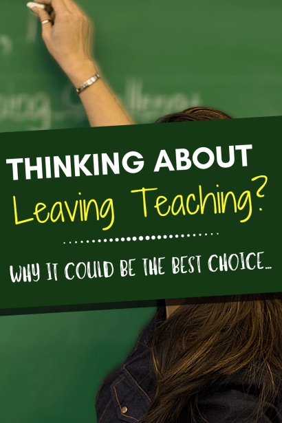 Thinking about leaving teaching? Why changing careers was the best choice for this teacher. #education #teaching #selfcare