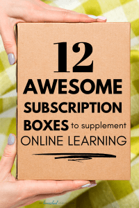 12 FUN Homeschool Subscription Boxes to supplement online learning. Hands-on, EASY projects with everything included are a great way to add enrichment to virtual school!