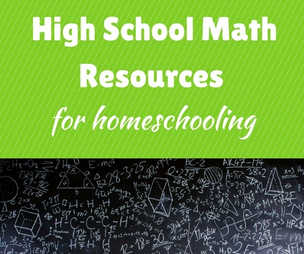 High School Math Resources For Homeschooling  The