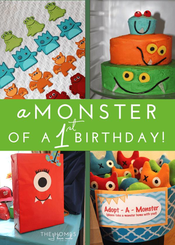 Diy Monster Birthday Decorations