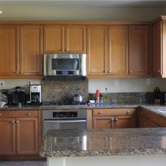 Kitchen Backslash Wire Shelves How To Wallpaper A Backsplash The Homes I Have Made Adding Pattern Your Doesn T Require Tile This Tutorial