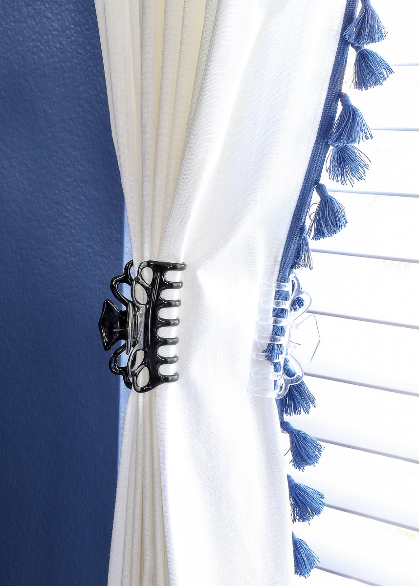easy fix to widen store bought curtains