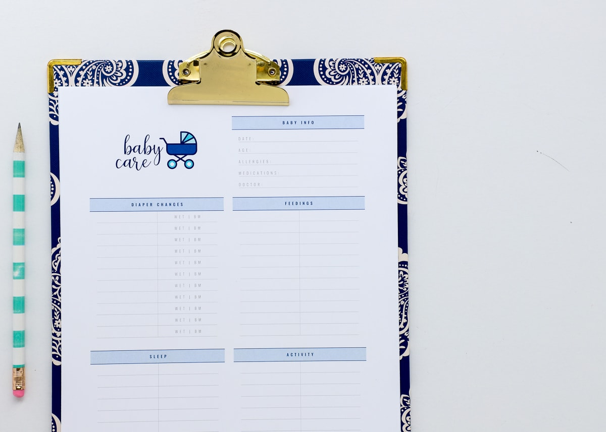 New To The Organization Toolbox Printable Babysitter Notes Amp Instructions