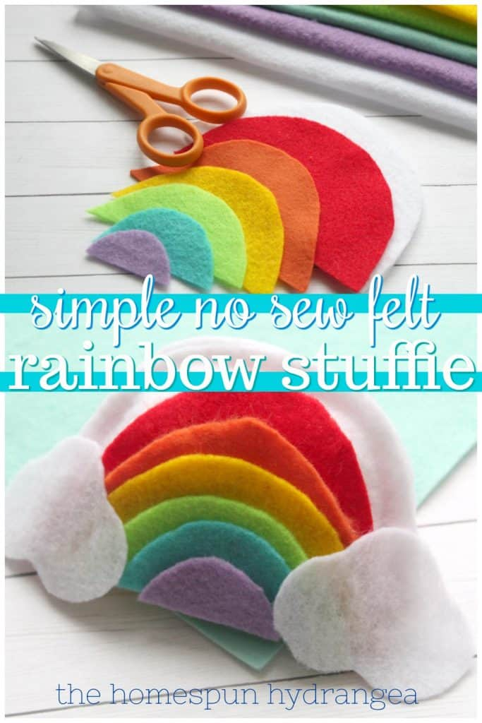 This is the perfect pincushion for a beginner sewer. No Sew Plushie Rainbow Craft For Kids The Homespun Hydrangea