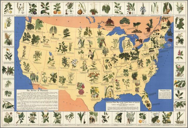 medicinal plant map