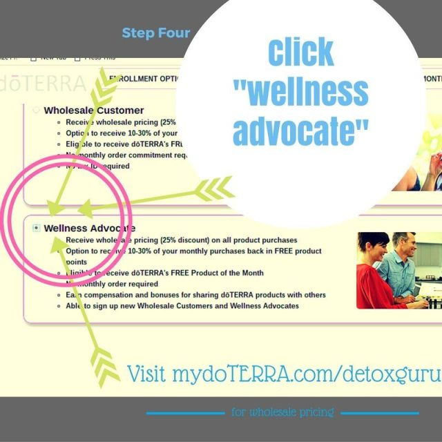 "Step Four: Select ""Wellness Advocate"" for Best Pricing"