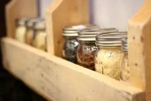 Pallet shelves10 Making Mason Jar Shelves From Wood Pallets Project