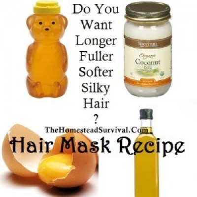 Hair Mask Recipe - Longer Fuller Softer Silky Hair