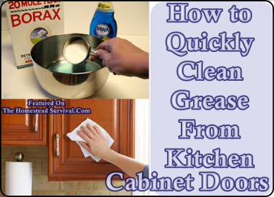 How To Quickly Clean Grease From Kitchen Cabinet Doors The