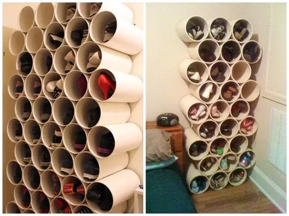 DIY Shoe Rack From PVC