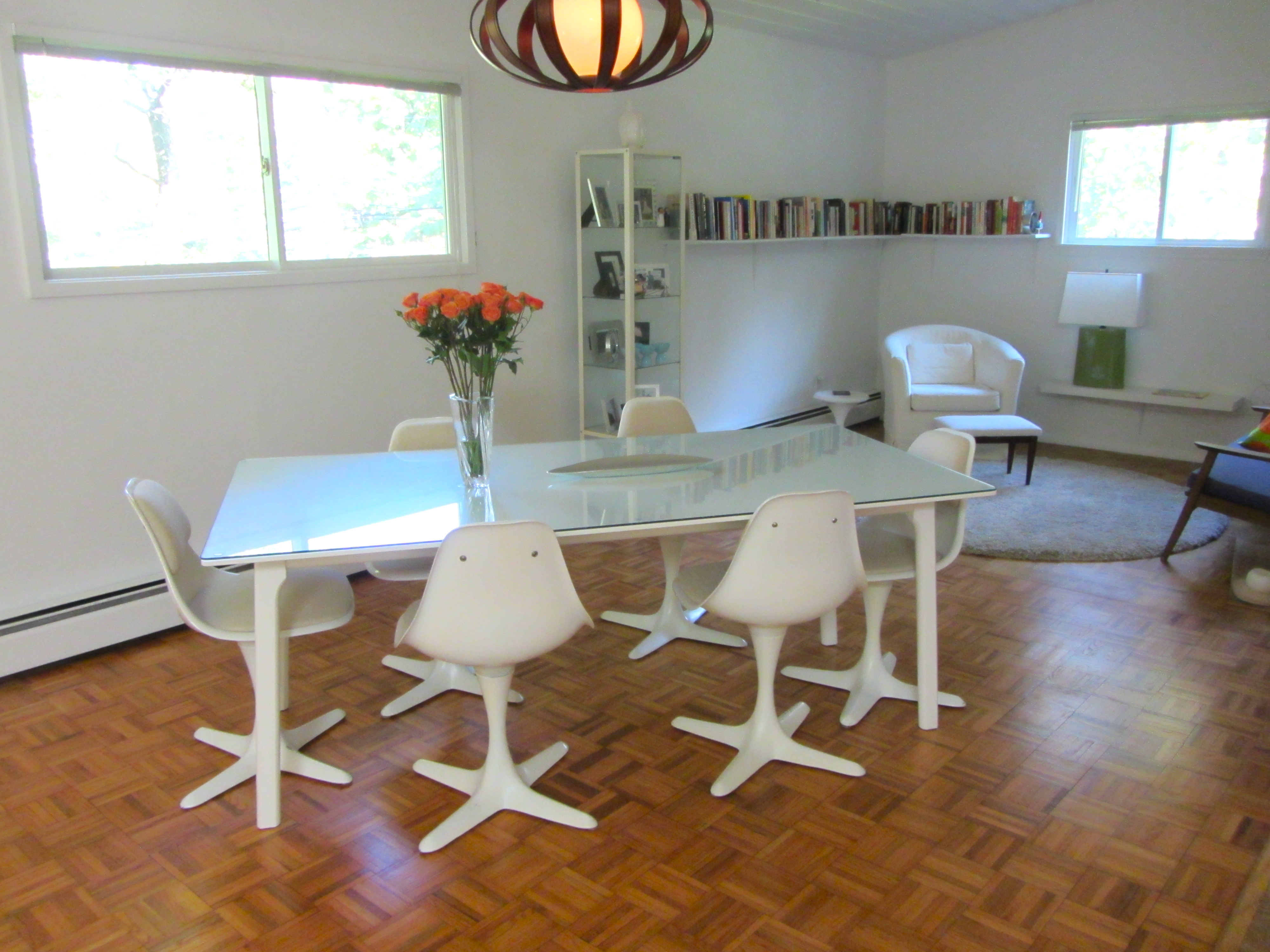 tulip dining room chairs grey leather table vintage our almost  the home tome
