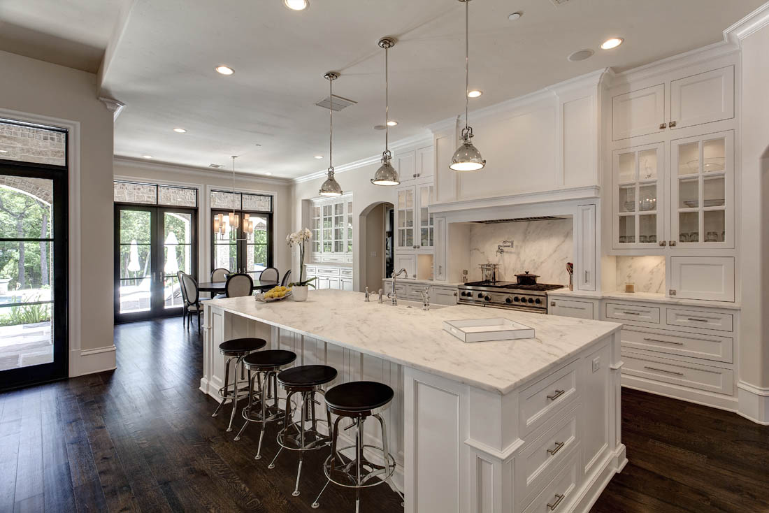 Love This White Open Kitchen Concept?  The Home Touches