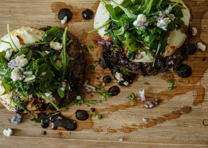 bison burgers and olive oil