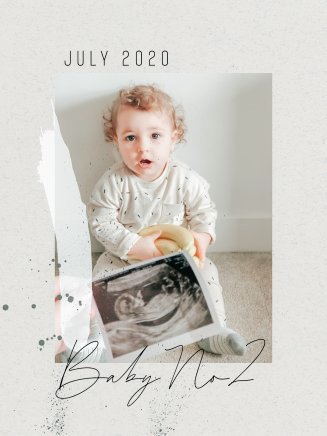 Baby number 2 announcement