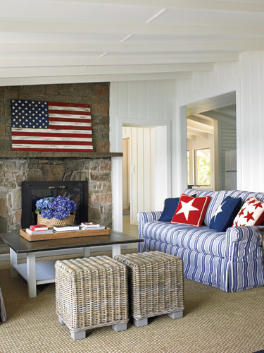 Red, White, And Blue Rooms