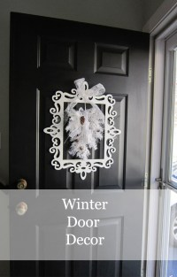 Winter Door Decor