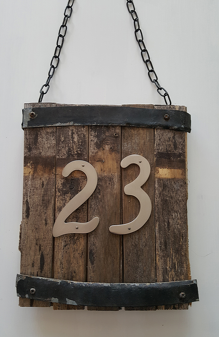 Rustic House Number Sign The Honeycomb Home