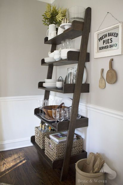 kitchen storage baskets red pendant lights decorating with ladders