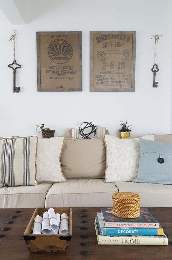 diy living room art ideas basement designs wall framed burlap
