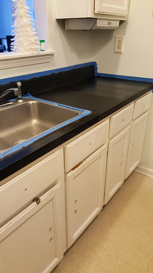 How To Paint Kitchen Countertops!