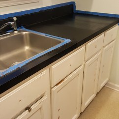Kitchen Cabinet Makeover Kit Stainless Steel Wall Panels Commercial How To Paint Countertops!