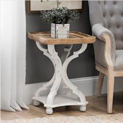 Farmhouse Glam Living Room Dark Wooden Floor Ideas 13 Stylish End Tables For Your