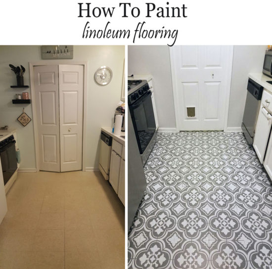 linoleum kitchen flooring aid crock pot how to paint linoluem look like cement tiles floor