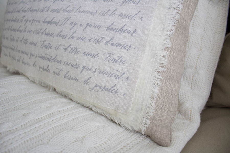 Shabby chic throw pillow cover by The Honey Comb Home