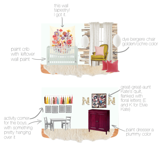plans for Elvie Kate's room
