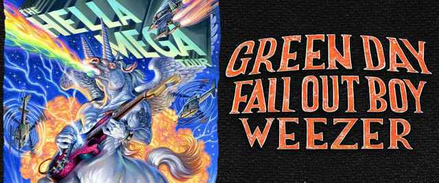 Hella Mega Tours 2020 Green Day Fall Out Boy Weezer