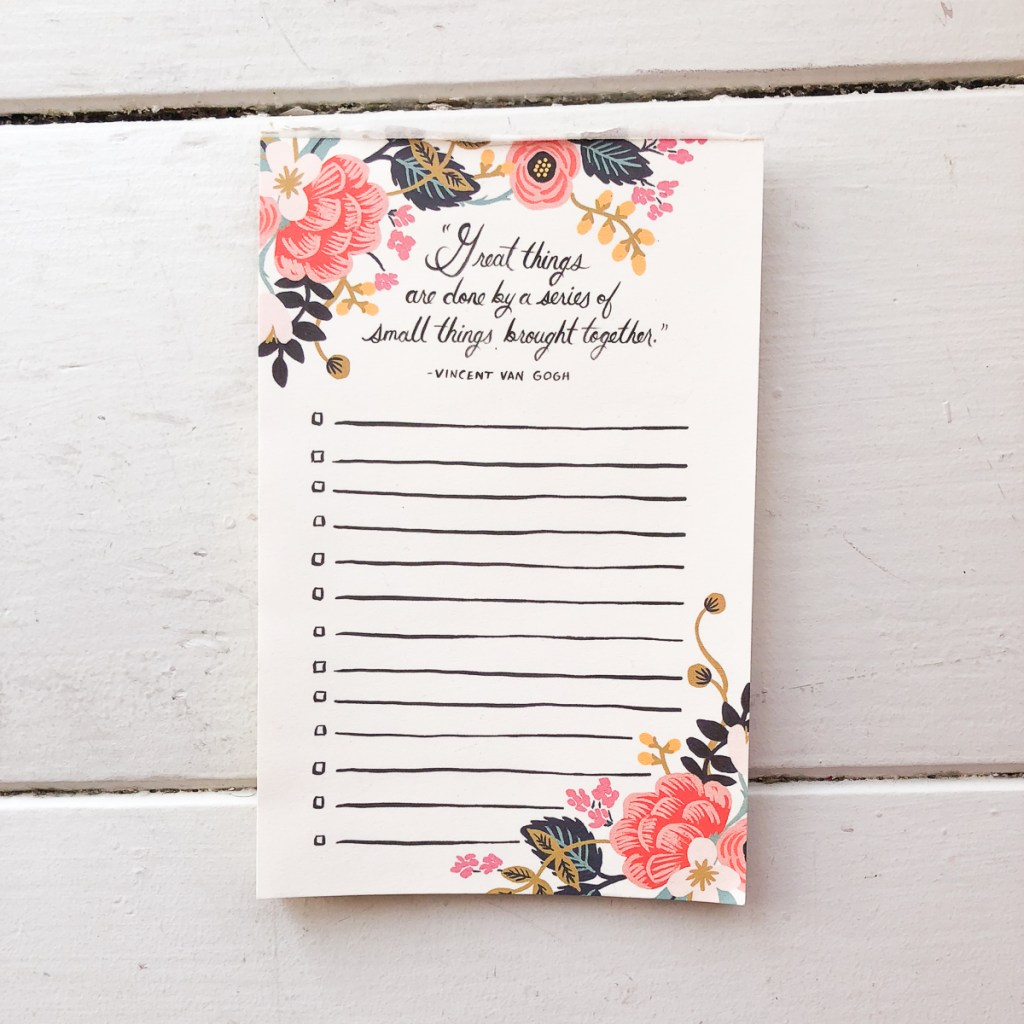 Notepad- Stationary Must-Haves For College at the Honey Scoop